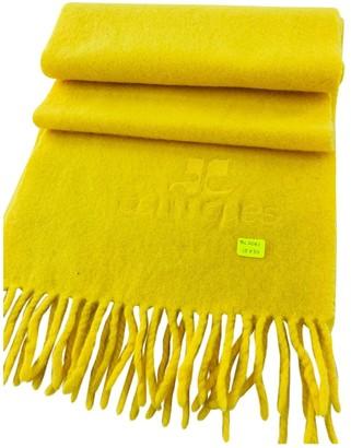 Courrã ̈Ges CourrAges Yellow Wool Scarves