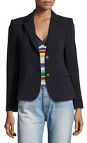 Alice + Olivia Greyson Two-Button Blazer, Navy