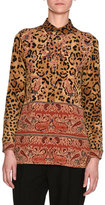 Etro Leopard & Paisley Silk Shirt