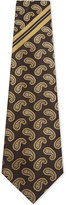 Dries Van Noten Jacquard Paisley And Stripe Wide Silk Tie