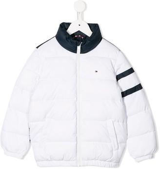 Tommy Hilfiger Junior colour block padded jacket