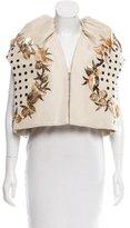 DELPOZO Embellished Oversize Vest