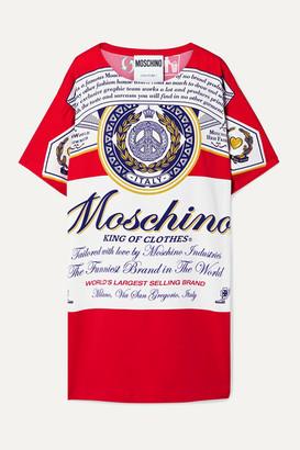 Moschino Budweiser Printed Stretch-crepe Mini Dress - Red
