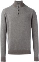 Hackett mock neck jumper