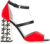 Pollini Decor Colour-Block T-bar sandals