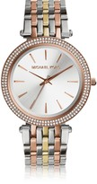 Michael Kors Darci Three Tone Stainless Steel Women's Watch