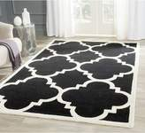 Safavieh Cambridge Collection CAM140G Handmade Navy and Ivory Wool Square Area Rug, 10-Feet
