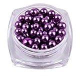 Hot Nail Art! AMA(TM) 12 Colors Pearl 10g/Box Nail Glitter Nail Beads Nail Tip Bottle Gel Polish Decoration Makeup Art DIY Nail Decorat (Purple)