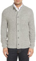 Nordstrom Mock Neck Wool Blend Button Cardigan