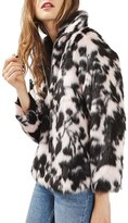 Topshop Women's Sweet Dreams Faux Fur Coat