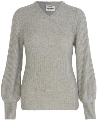 Mads Norgaard Recy Soft Knit Kaxilla V - s/36   grey   wool - Grey/Grey