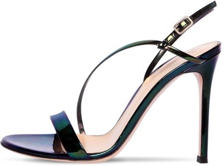 Gianvito Rossi 105mm Iridescent Patent Leather Sandals