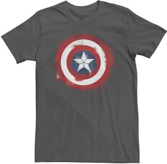 Marvel Men's Avengers Endgame Spray Paint Captain America Logo Graphic Tee