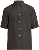 Lemaire Short-sleeved gingham shirt