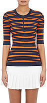 Tory Sport Women's Striped Tech-Knit Ribbed Sweater