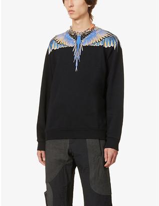 Marcelo Burlon County of Milan Wing-print cotton-jersey sweatshirt
