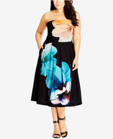 City Chic Trendy Plus Size Midi Dress