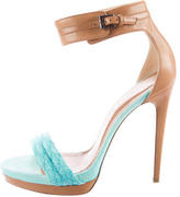 Barbara Bui Leather Ankle-Strap Sandals