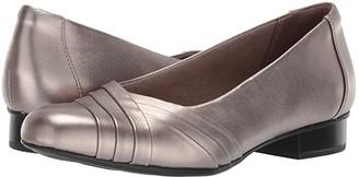 Clarks Juliet Petra (Black Leather) Women's 1-2 inch heel Shoes