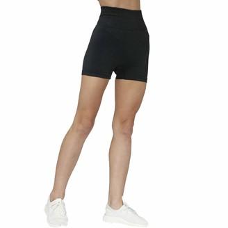 SotRong Womens Seamless Running Shorts High Waist Sports Yoga Shorts Squat Proof Running Workout Pants Black M
