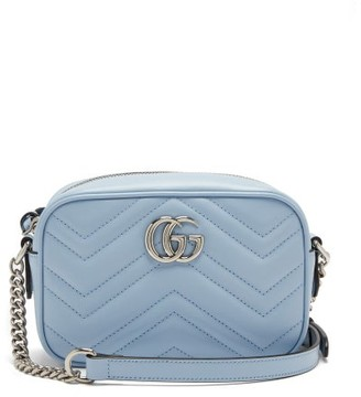 Gucci GG Marmont Mini Quilted-leather Cross-body Bag - Light Blue
