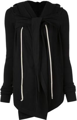 Rick Owens Larry hooded wrap jacket