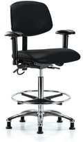 Mila Louise Ergonomic Drafting Chair Symple Stuff Upholstery Color: Black, Casters/Glides: Casters, Customization: Included
