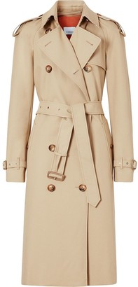 Burberry monogram-lined trench coat