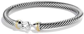 David Yurman Cable Buckle Bracelet with 18K Yellow Gold/5mm