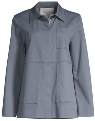 Lafayette 148 New York Pascal Duo Cotton-Twill Jacket