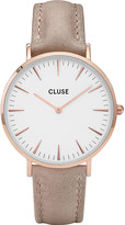 Cluse CL18031 La Bohà ̈me stainless steel and leather watch