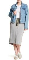 Hip Athletic Side Stripe Midi Skirt (Plus Size)