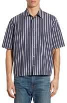 Vince Regular-Fit Narrow Striped Shirt