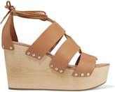 Loeffler Randall Ines leather wedge sandals