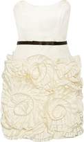 Milly Rosette ruffled crepe de chine mini dress