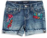 Vigoss Girls 2-6x Embroidered Denim Shorts