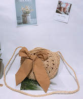 BEIGE Fee Et Rit Fee et rit Women's Crossbodies  Bow-Accent Woven Crossbody Bag