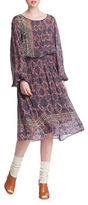 Plenty by Tracy Reese Line Dot Bohemian Midi Dress