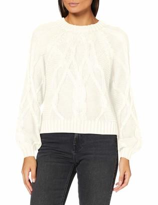 Noisy May Women's NMTIFFANI L/S Crop O-Neck Knit BG S Sweater