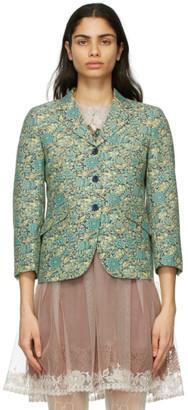 Gucci Green Liberty London Edition Wool Floral Blazer