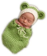 Vemonllas Fashion Unisex Newborn Girl Boy Baby Knitted Photography Props Hat Sleeping Bag