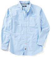 Daniel Cremieux Long-Sleeve Graph Pattern Oxford Woven Shirt