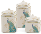 3pc Peacock Garden Canister Set