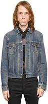 Saint Laurent Oversized Repaired Cotton Denim Jacket