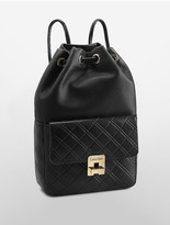 Calvin Klein Quilted Drawstring Bucket Bag