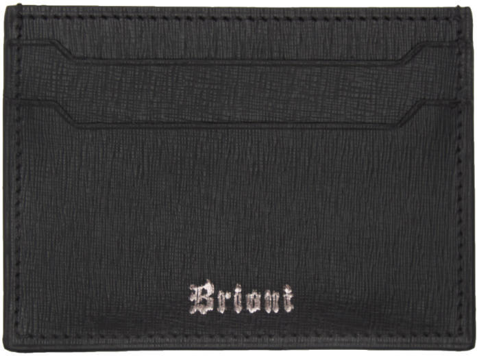 Brioni Black Leather Card Holder