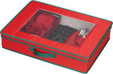 Household Essentials Red Holiday Tabletop Set Storage Chest