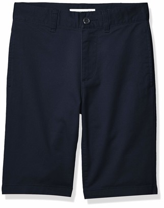 Amazon Essentials Flat Front Uniform Chino Short Navy Blue 8(H)