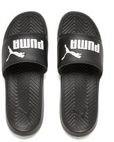 Puma Men's Popcat Slide Sandals Black/Black/White