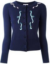 Olympia Le-Tan embellished front jumper - women - Silk/Cashmere/glass - L
